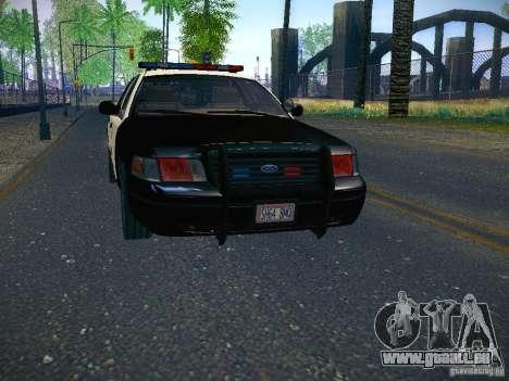 Ford Crown Victoria Police Intercopter pour GTA San Andreas sur la vue arrière gauche