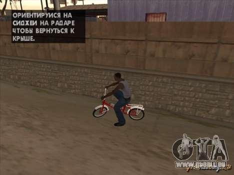 Tair GTA SA Rad Rad für GTA San Andreas Innenansicht