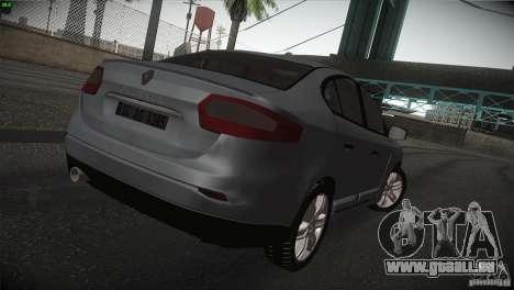 Renault Fluence pour GTA San Andreas vue de droite