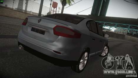 Renault Fluence für GTA San Andreas rechten Ansicht