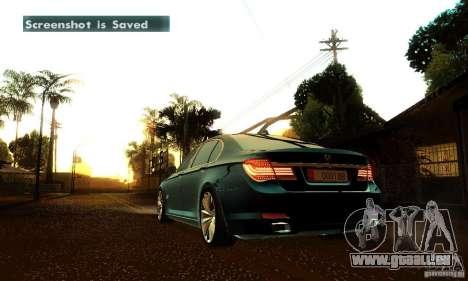BMW 750Li pour GTA San Andreas vue de dessous