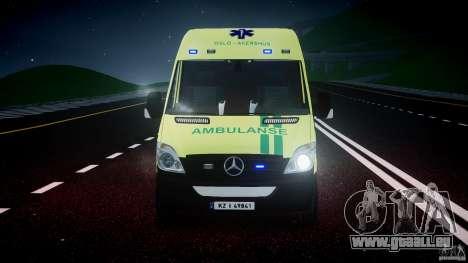 Mercedes-Benz Sprinter PK731 Ambulance [ELS] pour GTA 4 est une vue de dessous