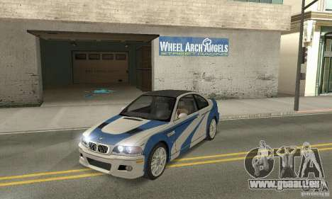 BMW M3 Tunable für GTA San Andreas Innenansicht