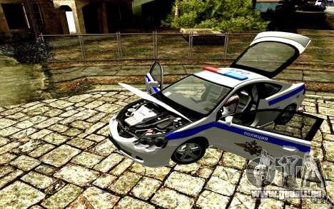 Acura RSX-S Police pour GTA San Andreas sur la vue arrière gauche