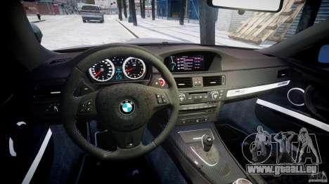 BMW M3 E92 stock pour GTA 4 Vue arrière