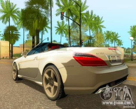 Mercedes-Benz SL350 2013 pour GTA San Andreas sur la vue arrière gauche