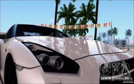 Nissan GTR 2011 Egoist (version avec la saleté) pour GTA San Andreas vue intérieure