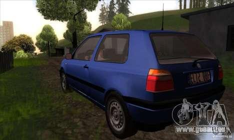 Volkswagen Golf 3 für GTA San Andreas zurück linke Ansicht