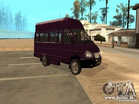 Taxi de Gazelle 32213 pour GTA San Andreas sur la vue arrière gauche