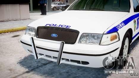 Ford Crown Victoria NYPD pour GTA 4 vue de dessus