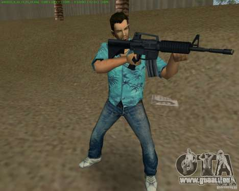 M4 von Counter Strike Source für GTA Vice City sechsten Screenshot