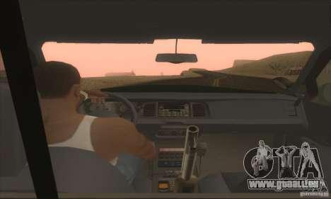 Ford Crown Victoria Indiana Police pour GTA San Andreas sur la vue arrière gauche