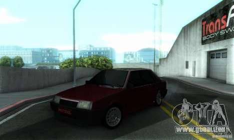 PROTOCOLE DE VAZ 21099 pour GTA San Andreas vue de dessus