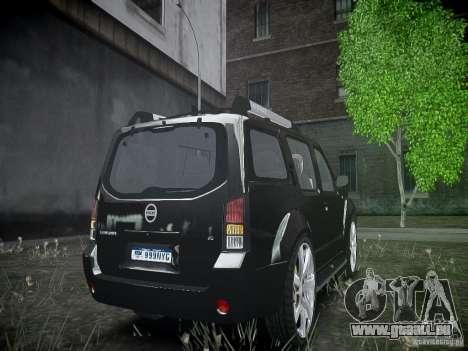 Nissan Pathfinder 2010 pour GTA 4 Vue arrière