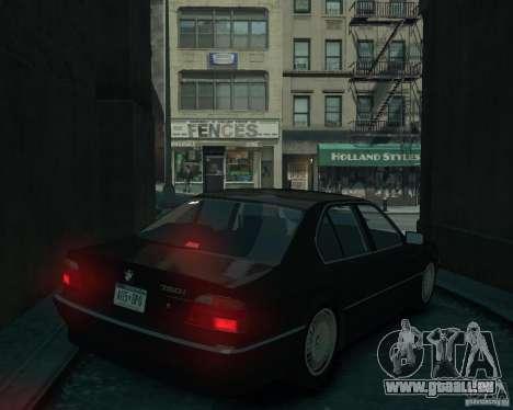 BMW 750i E38 1998 pour GTA 4 est une gauche