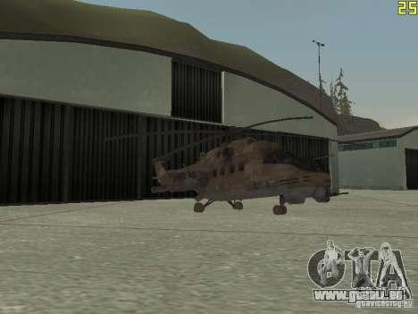 Mi-24p Desert Camo pour GTA San Andreas vue de dessus