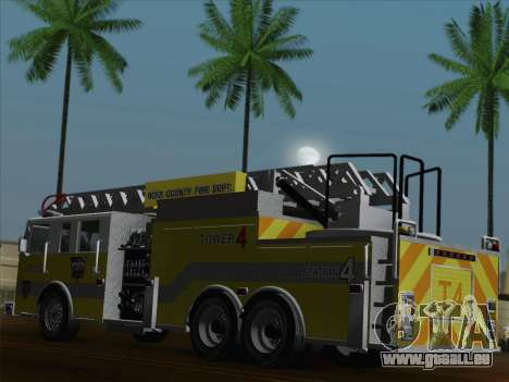 Pierce Arrow XT BCFD Tower Ladder 4 für GTA San Andreas Räder