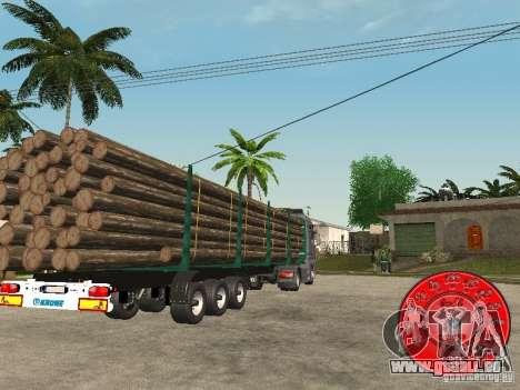 Der Anhänger KRONE-Holz-Träger für GTA San Andreas