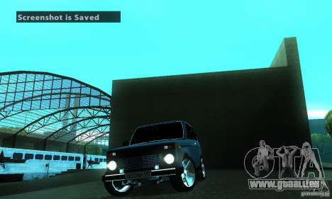 VAZ 21213 NIVA FBI pour GTA San Andreas vue intérieure