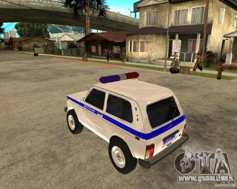 VAZ 2121 Police pour GTA San Andreas laissé vue