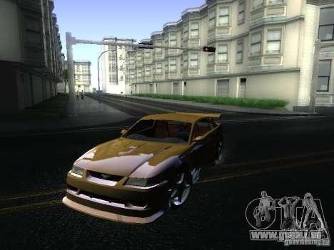 Ford Mustang SVT Cobra pour GTA San Andreas laissé vue