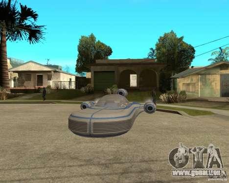 X34 Landspeeder für GTA San Andreas Rückansicht