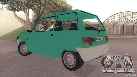 Dacia 500 Lastun für GTA San Andreas zurück linke Ansicht