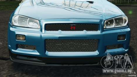 Nissan Skyline GT-R R34 2002 v1.0 für GTA 4-Motor