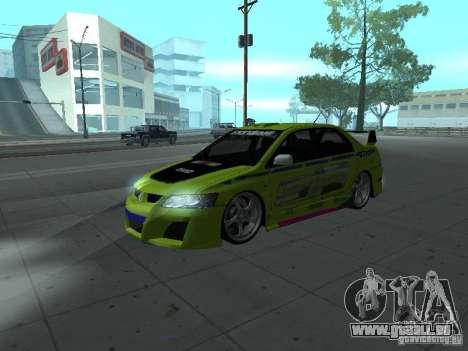 Mitsubishi Lancer Evolution 8 pour GTA San Andreas salon