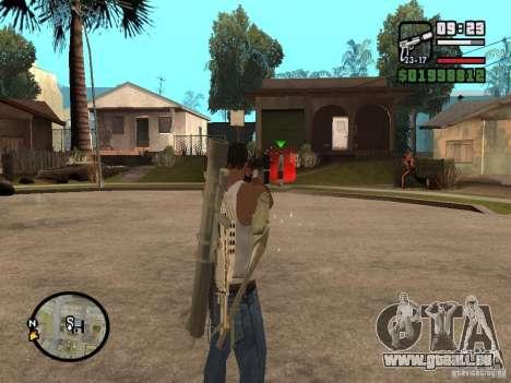 La vue standard pour GTA San Andreas troisième écran