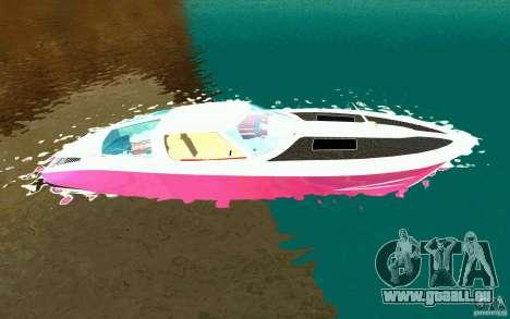 Mamba Speedboat pour GTA San Andreas laissé vue