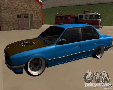 BMW E30 325e Duscchen für GTA San Andreas rechten Ansicht