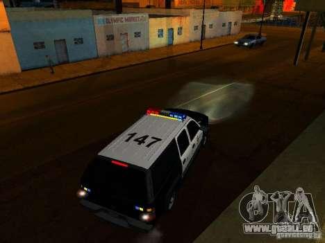 Chevrolet Suburban Los Angeles Police pour GTA San Andreas vue de dessus