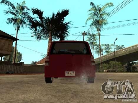 Toyota BB pour GTA San Andreas sur la vue arrière gauche