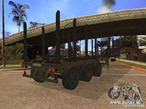 Anhänger MAZ 99864 für GTA San Andreas zurück linke Ansicht