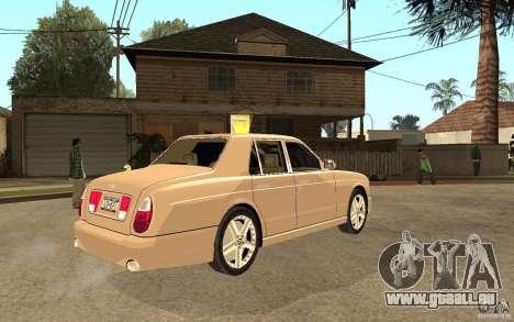Bentley Arnage für GTA San Andreas rechten Ansicht