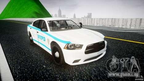 Dodge Charger NYPD 2012 [ELS] pour GTA 4 Vue arrière