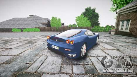 Ferrari F430 v1.1 2005 pour GTA 4 Vue arrière de la gauche