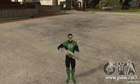 Green Lantern für GTA San Andreas her Screenshot
