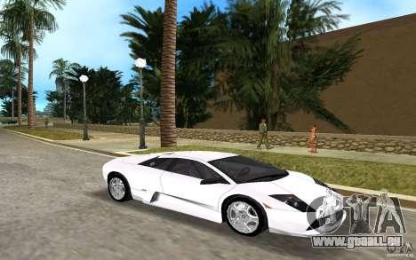 Lamborghini Murcielago V12 6,2L pour une vue GTA Vice City de la gauche