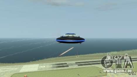 UFO neon ufo blue pour GTA 4 est une vue de l'intérieur