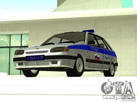 ВАЗ 2114 Police pour GTA San Andreas vue arrière