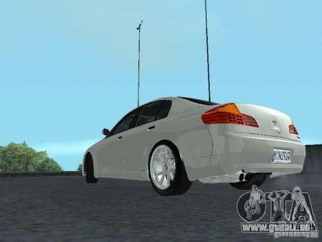 Nissan Skyline 300 GT pour GTA San Andreas sur la vue arrière gauche