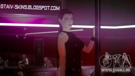 Angelina Jolie (Tomb Raider) pour GTA 4 troisième écran