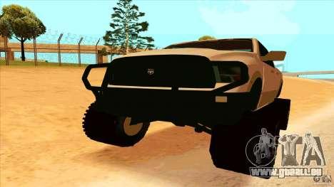Dodge Ram 2500 4x4 pour GTA San Andreas vue de droite