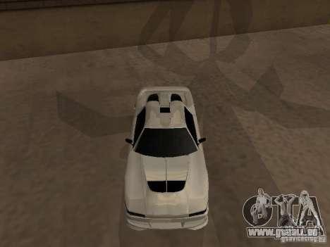 Infernus GT pour GTA San Andreas laissé vue