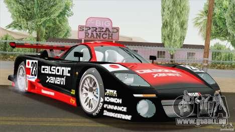 Nissan R390 GT1 1998 v1.0.1 für GTA San Andreas zurück linke Ansicht