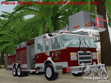 Pierce Aerials Platform. SFFD Ladder 15 pour GTA San Andreas