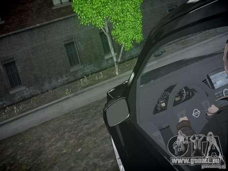Nissan Pathfinder 2010 für GTA 4 Unteransicht