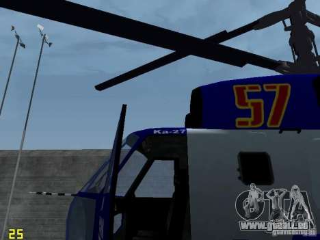 Ka-27 pour GTA San Andreas vue de droite